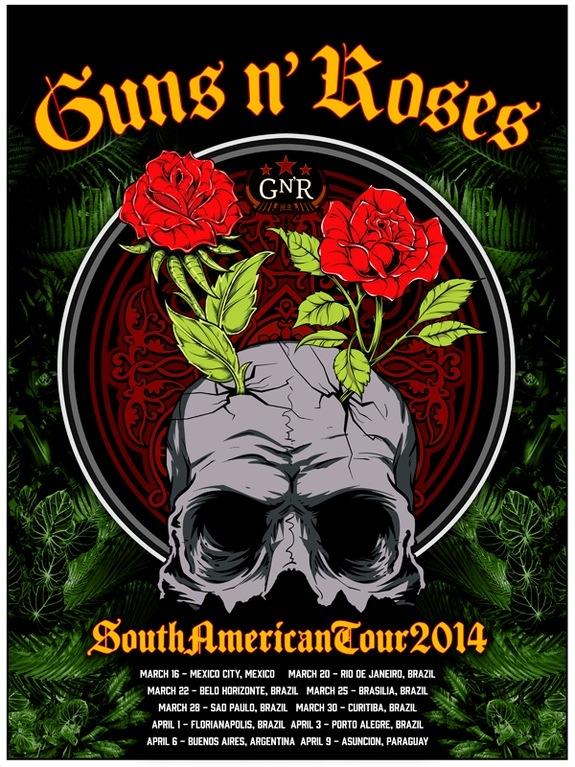 Guns & Roses no Brasil 2014