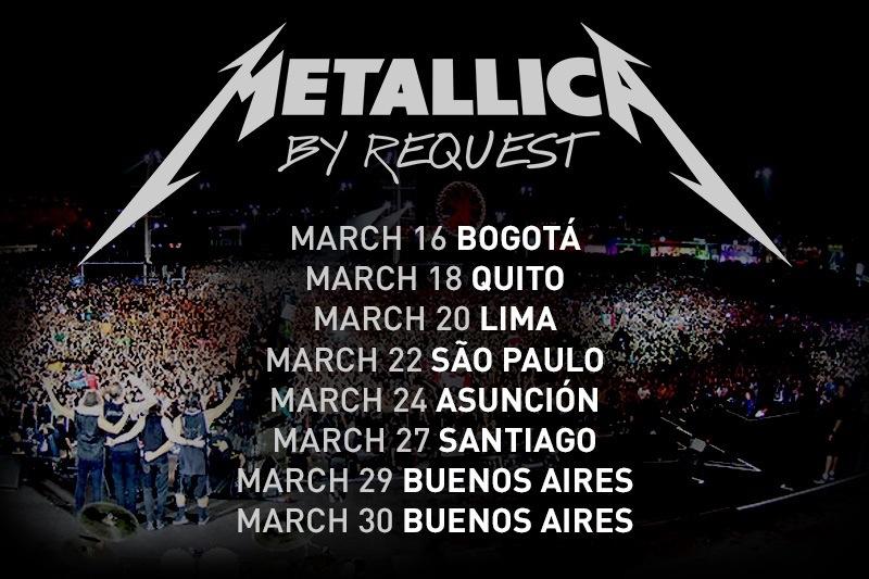 Metallica 2014 América do Sul
