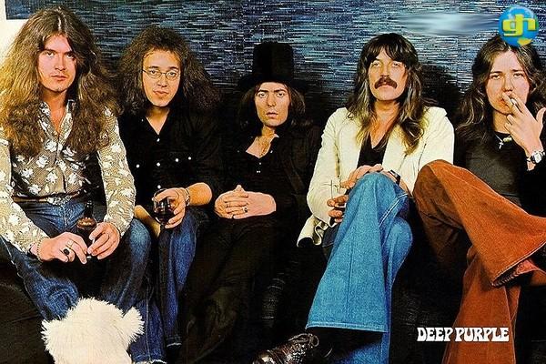 Glenn Hugues, Ian Paice, Richie Blackmore, Jon Lord e Coverdale