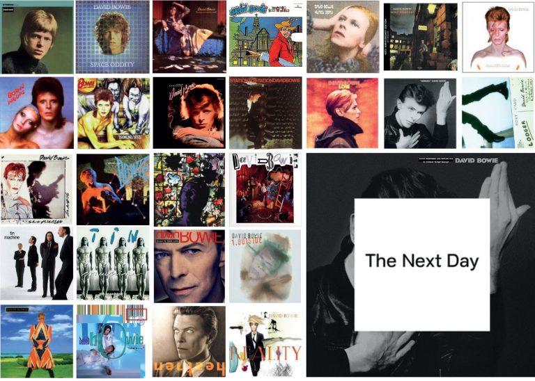 Todas capas dos álbuns de David Bowie + Playlist Comentada