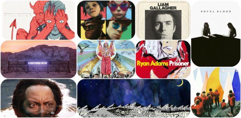 Melhores álbuns de 2017 + Top 50 canções do ano
