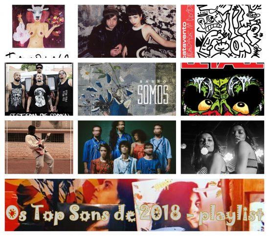 20 Top sons nacionais de 2018 + Canções brasileiras do ano de 2018 + Playlist