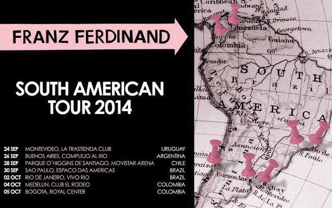 Franz Ferdinand tour 2014 confirmado na América do Sul